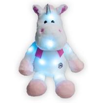 Knuffel met ledlampjes Unicorn 35cm