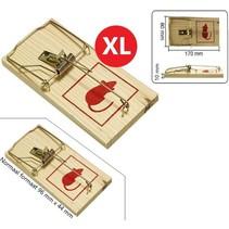 XL Traditionele Houten Muizenval Duo Pack Jumbo 17x8cm