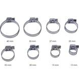 Benson Benson Slangenklemmen Set 40 Delig – 8 Verschillende Formaten – Zilverkleurig