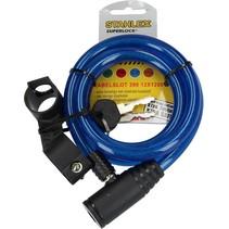 Stahlex Superlock Staalkabelslot Blauw 120cm