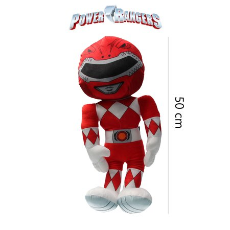 Power Rangers Power Ranger knuffel - pop 50 cm rood
