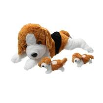 Sunkid Pluche moederhond 2 Puppy's 40cm