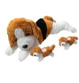 Sunkid Sunkid Pluche moederhond  2 Puppy's Knuffeldier 40cm