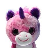 Girlie paws Girlie Paws pluche eenhoorn met Paarse Hoorn 23cm