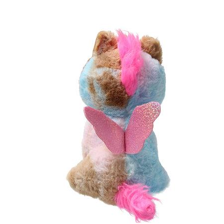 Girlie paws Girlie Paws pluche eenhoorn met bruine Hoorn 23cm