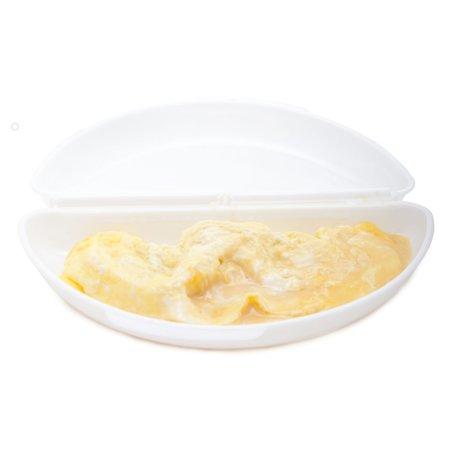 Cosy & Trendy Cosy&Trendy Magnetron Omelet Maker Wit – 21x11cm   Maak uw Omelet in de Magnetron   Magnetronbestendige Opwarmbak