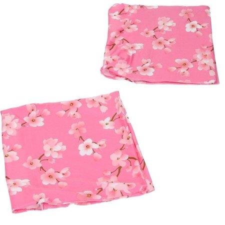 Banzaa Rekbare Boekenkaft voor Schoolboeken A4 Roze bloem – 40x22cm