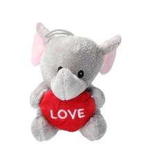 Pluche Knuffel olifant met Hart Love 15cm