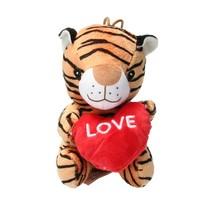Pluche Knuffel tijger met Hart Love 15cm