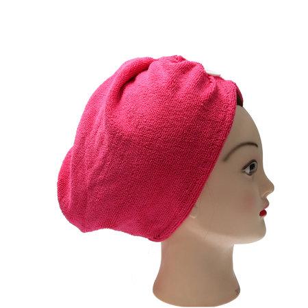 Banzaa Roze Microvezel Handdoek voor Haar   Sterk Absorberende Voorgevormde Hoofdhanddoek Geschikt Voor Kort en Lang Haar   Haartulband Ideaal Voor Het Snel Drogen Van Je Haar Na Het Douchen of Baden