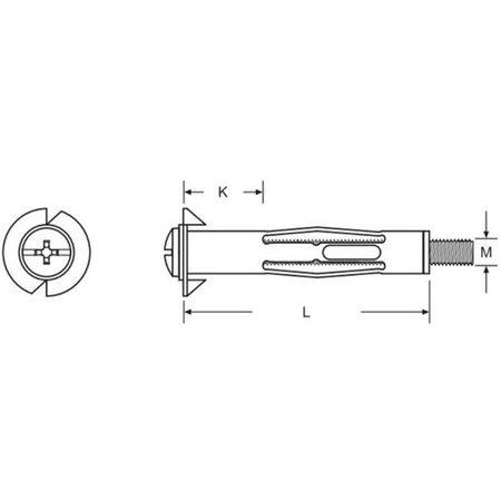 Hofftech Holle wand Ankers m5 37 MM 15 Stuks | Voor het Bevestigen aan Holle Wanden | Muurplug geschikt voor Wanddiktes van 10mm tot 17mm | Hollewandplug