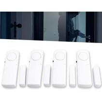 Premium 4x Draadloos Inbraakalarm Set met Magnetische Sensoren – 4 Stuks
