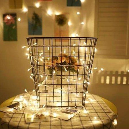 Banzaa 20 ledverlichting Warm Wit voor Indoor Gebruik – 115 cm   Lichtsnoer Lampjes voor Feesten en Partijen   Sfeerverlichting