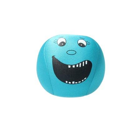 Banzaa Emoji Stressbal Vrolijke gezichtjes - Micropalletvulling - Knijpbal- Blauw