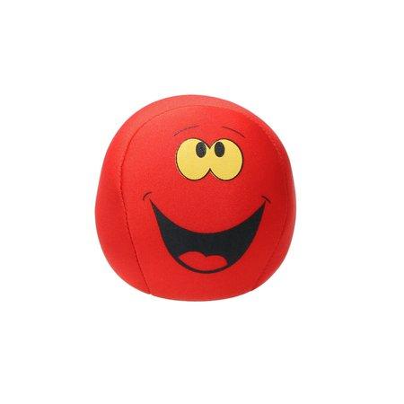 Banzaa Emoji Stressbal Vrolijke gezichtjes - Micropalletvulling - Knijpbal- Rood