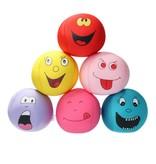 Banzaa Emoji Stressbal Vrolijke gezichtjes - Micropalletvulling - Knijpbal- Paars