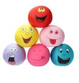Banzaa Emoji Stressbal Vrolijke gezichtjes - Micropalletvulling - Knijpbal- Roze