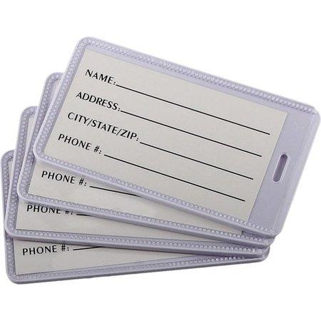 Banzaa Bagagelabel Set van 4 Stuks voor Koffers – 11x6x1cm | Name Tags | Adressenkaartjes | Kofferlabels | Bagage Naamkaartjes