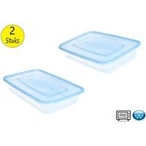 Cosy & Trendy Voedsel-Voorraaddoos set van 2 stuks blauw
