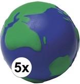 Banzaa Anti-stressbal wereldbol 6,5 cm - Stressballen - Anti-stress