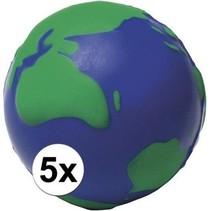 Anti-stressbal wereldbol 6,5cm