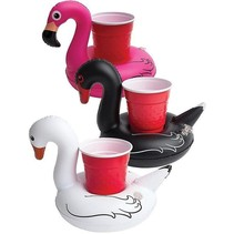 Opblaasbare drankhouder vogels Set 3 stuks