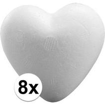 8 stuks Piepschuim harten 9 cm