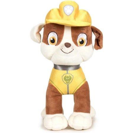 Paw Patrol Pluche Paw Patrol knuffel Rubble - Classic New Style - 27 cm - Cartoon knuffels - Speelgoed voor kinderen