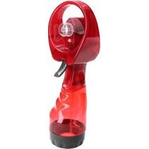 Draagbare Spray Handventilator Verkoeling Rood