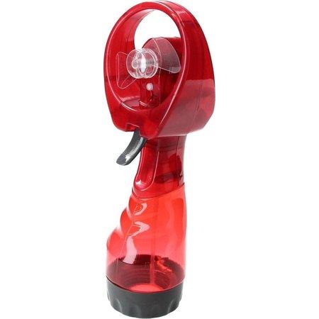 Banzaa Draagbare Spray Handventilator inclusief Waterreservoir | Verkoeling | Ventilatoren | Rood