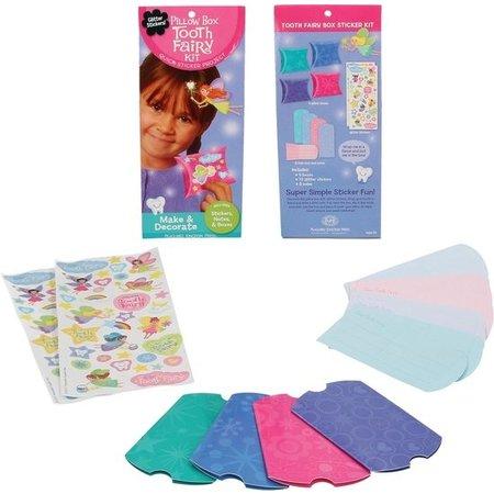 Banzaa Tandenfee Kussendoosje Sticker Project – 23x10x2cm | Sticker Fun Knutselen voor Kinderen
