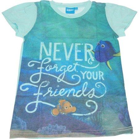 Disney Finding Dory T-shirt voor Meisjes - Maat 104/110 | Kinderkleding | Kleding voor Kinderen | Zomerkleding
