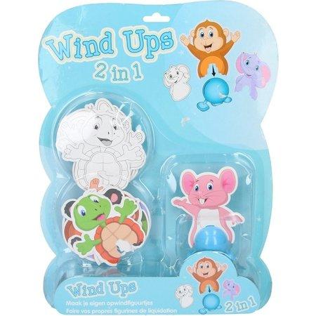 Banzaa Wind Ups Maak je eigen Opwindfiguurtjes Knutselpakket Olifant – 11x9x2cm | Knutselen voor Kinderen | Speelgoed hobbypakket