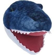 pluche dierenkop dinosaurus 30 cm - wanddecoratie Blauw