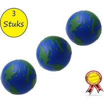 Banzaa Wereldbol Stressbal set 3 stuks Medium Density