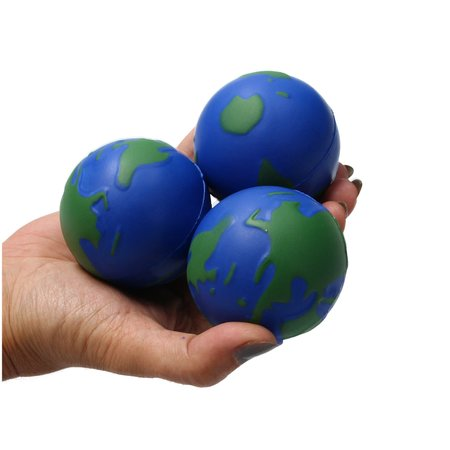 Banzaa Banzaa Wereldbol Stressbal set 3 stuks Medium Density