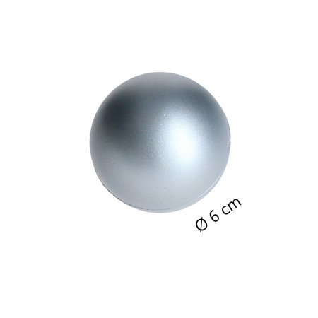 Banzaa Banzaa Stressbal set 3 stuks Medium Density 6cm Zilver