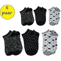 Banzaa Sneaker sokken Multipack 6 paar Meisjes Enkelsokken 35-38