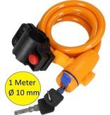 Banzaa Staalkabelslot voor de Fiets Met Beschermend Omhulsel Oranje – 16x11cm | Bescherming | Fietsslot | Kettingslot