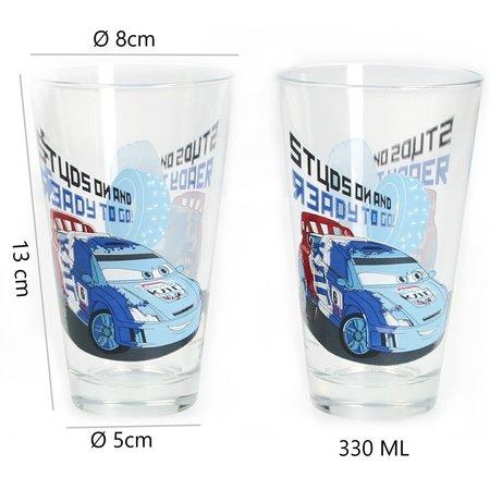 Disney Cars Disney Pixar Cars Grote Drinkglazen set van twee glazen 330 ML