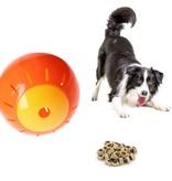 Free and Easy Honden en katten Speelbal Dieren Speelgoed Snacks bal 12,5 cm Oranje