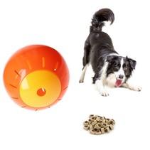 Honden en katten Speelbal Dieren Speelgoed Snacks bal 12,5 cm Oranje