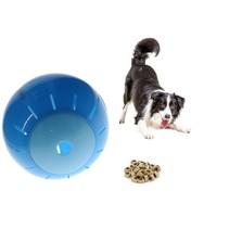 Honden en katten Speelbal Dieren Speelgoed Snacks bal 12,5 cm Blauw