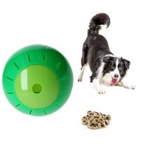 Honden en katten Speelbal Dieren Speelgoed Snacks bal 12,5 cm Groen