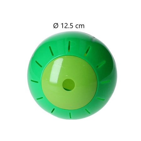 Free and Easy Honden en katten Speelbal Dieren Speelgoed Snacks bal 12,5 cm Groen