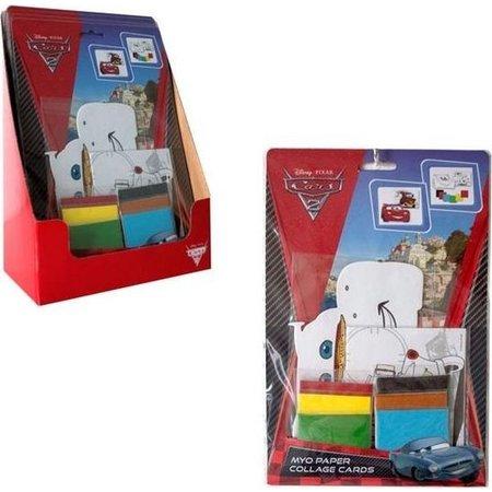 Disney Cars Cars 2 Maak je eigen Kaart – 28x18x2cm | Knutselpakket voor Kinderen | Kleuren en Plakken