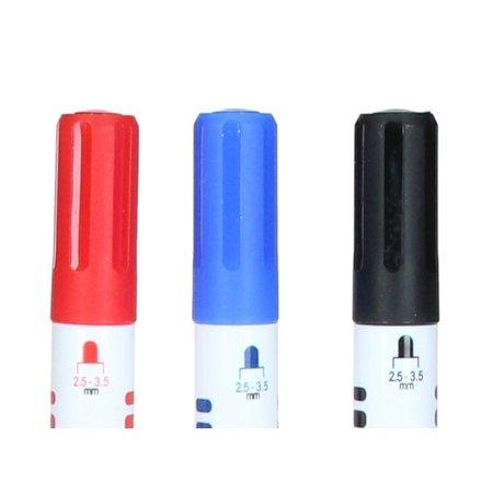 Banzaa Whitboard marker 2.5mm-3.5mm zwart blauw rood set 6 stuks