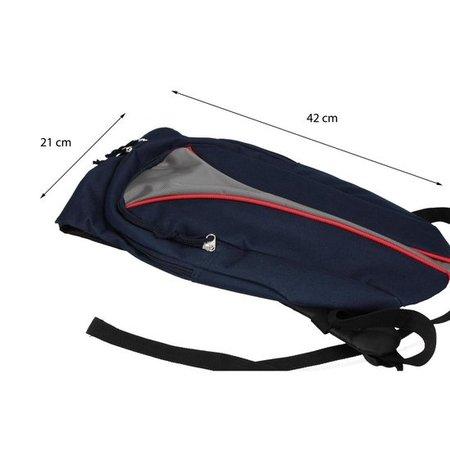 Banzaa Kleine Sportieve Rugzak Unisex Donkerblauw, Grijs, Rood – 42x21x10cm | Rugtas Klein | Backpack