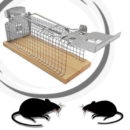 Alma Garden Diervriendelijke Muizenkooi – Levende Muizenval – Anti muis – Mouse trap - 15 x 6 cm