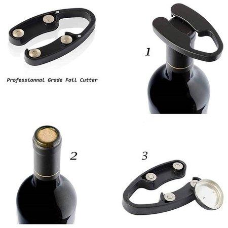Banzaa Houdini Kurkentrekker – Voor het Eenvoudig en Snel openen van Wijnflessen – Zwart Koperkleurig